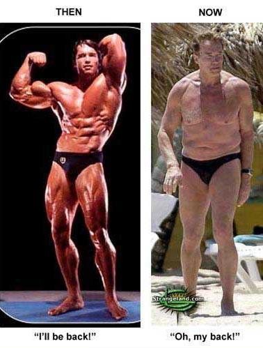 Guverner bodybuildinga osjeća neumoljivu težinu vremena