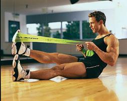 Kućni trening sa rastezljivom gumenom trakom