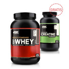 100% Whey Gold 908g + Creatine 300g GRATIS