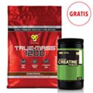 True Mass 1200 4,8 kg + Creatine 600 g GRATIS
