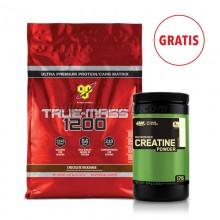 True Mass 4,8 kg + Creatine 600 g GRATIS