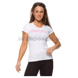 Bad Girl Round Neck Tee - bijela/roza