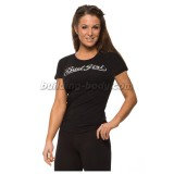 Bad Girl Round Neck Tee - crna/srebrna