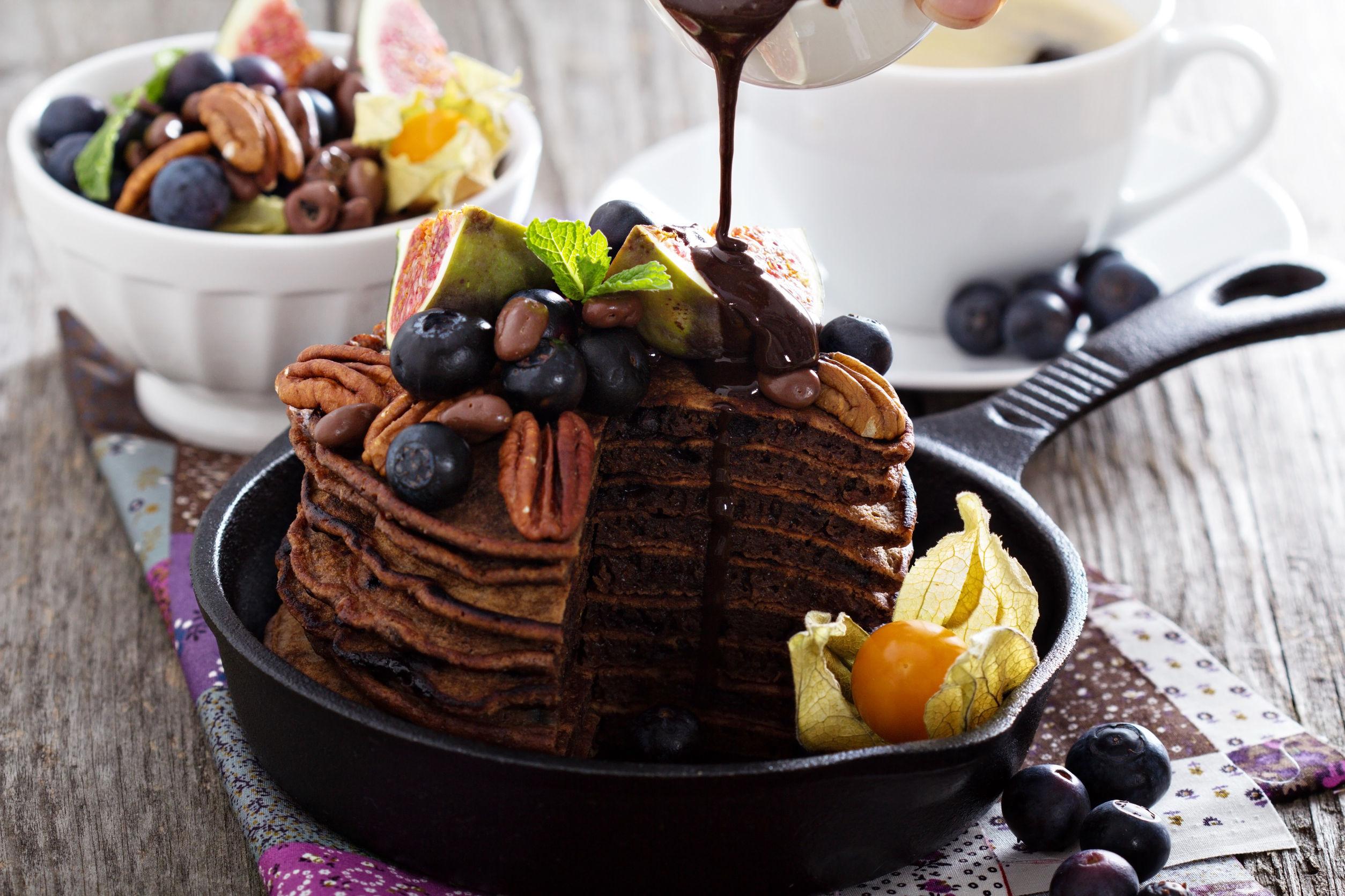 čokoladne proteinske palačinke