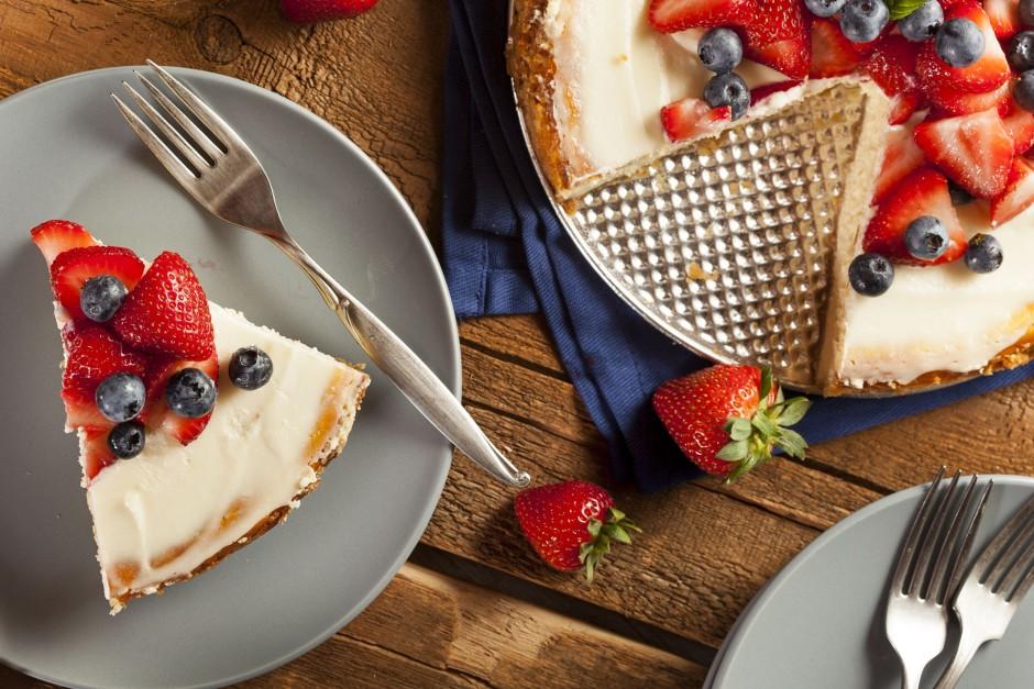 cheesecake s posnim sirom