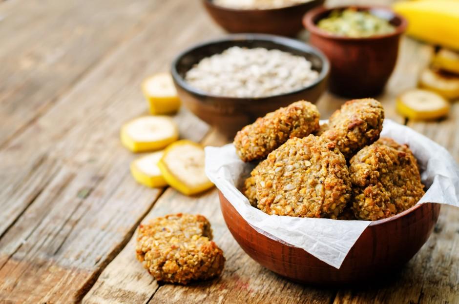 zdravi proteinski keksi od zobenih, banana i badema