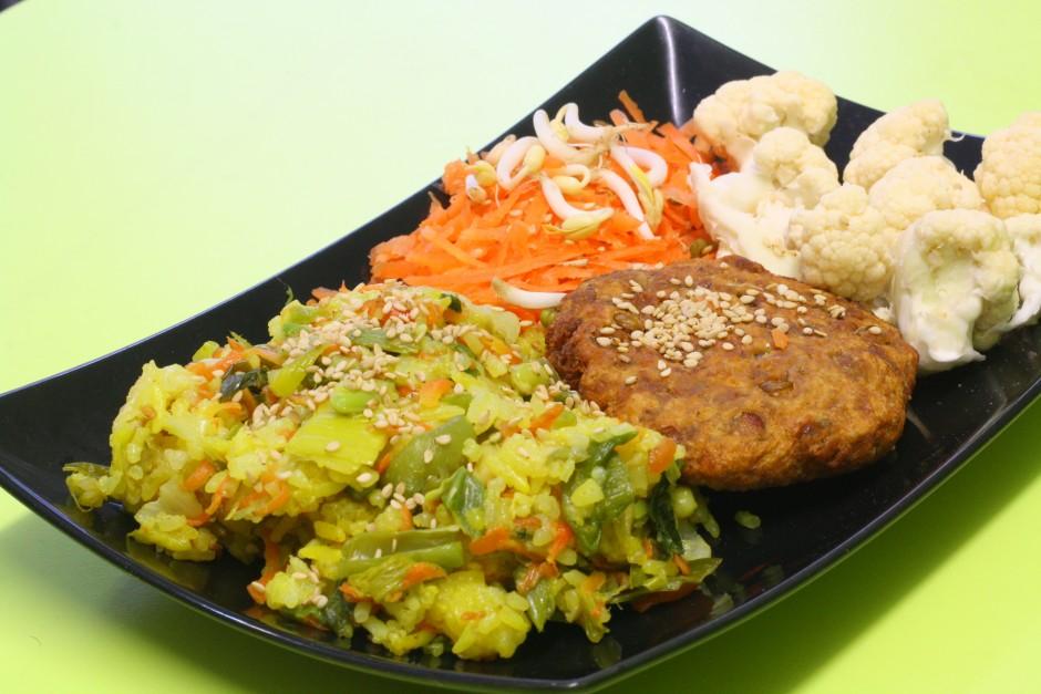 wok s povrćem i slanutkom