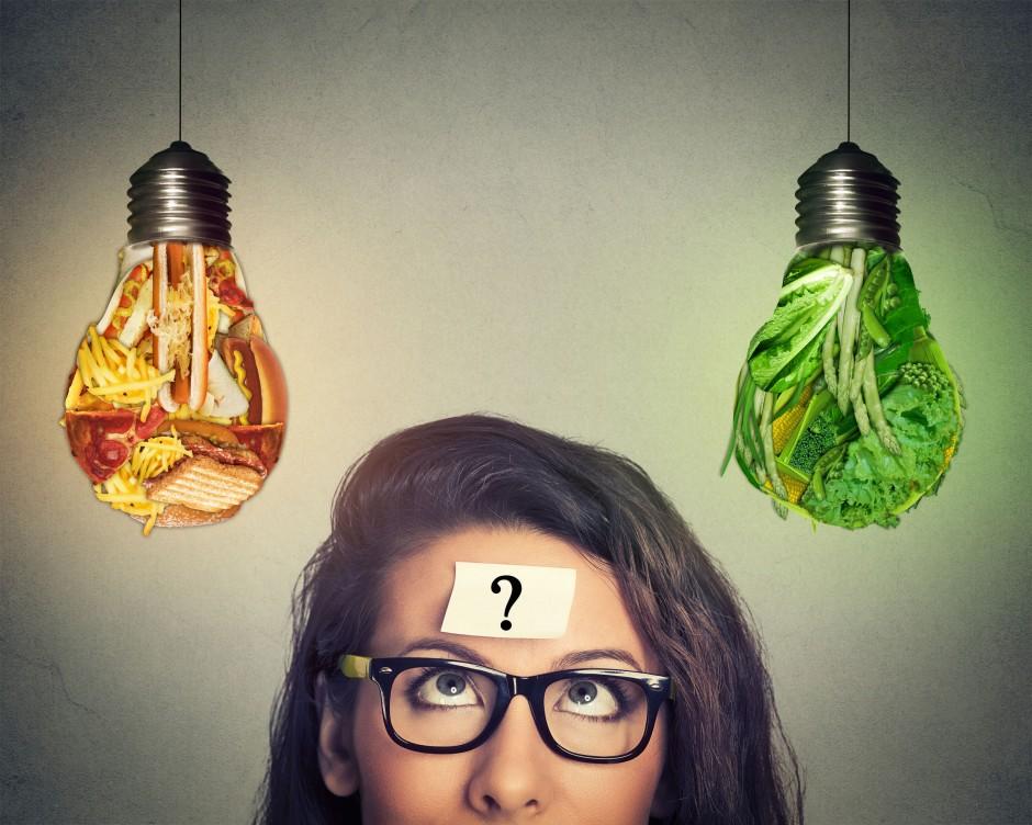 zdrava vs. nezdrava hrana