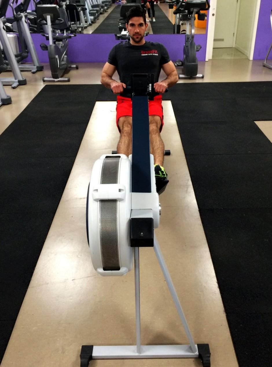 Kardio trening na ergometru, veslanje