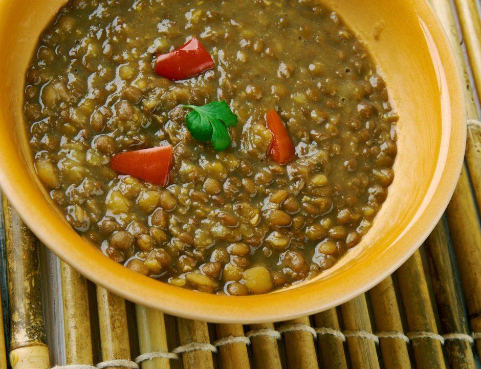 Curry Masoor -gulaš od leće