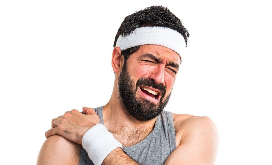 57519027 - sportman with shoulder pain