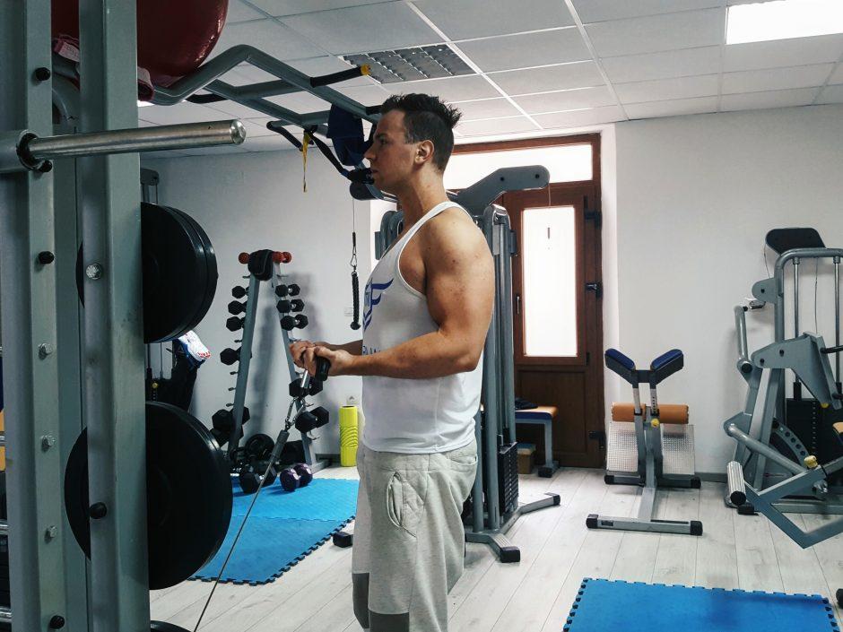 biceps pregib na kablu