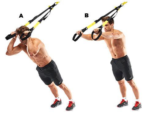 triceps pregib sklekovi